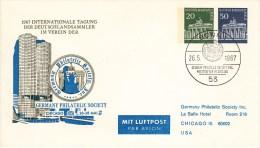 B PU 46/1c  1967 Inernationale Tagung Der Deutschlandsammler Im Verein Der Germany Philatelic Society, Bonn 1 - Sobres Privados - Usados