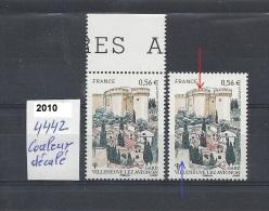 Variété Neuf** Y&T  N°  4442 Couleur Décalé; Mur Bleu - Varieteiten: 2010-.. Postfris