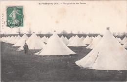 Carte Postale Ancienne De La Valbonne - Vue Générale Des Tentes - Casernas