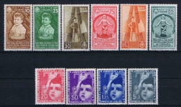 Italy: 1937 Mi 560-569 ,  Sa 406-415  MH/* - 1900-44 Vittorio Emanuele III