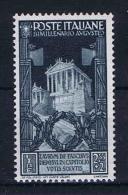 Italy: 1937 Mi 585 ,  Sa 425  MNH/** - 1900-44 Victor Emmanuel III.