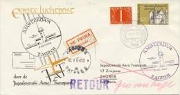 Eerste KLM Vlucht Amsterdam - Zagreb (2 Mei 1964) - Covers & Documents