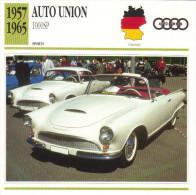 Fiche Auto  -  Auto Union 1000SP Roadster   -  1960  -  Carte De Collection - KFZ