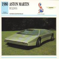 Fiche Auto  -  Aston Martin Bulldog Prototype  -  1980  -  Carte De Collection - KFZ
