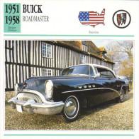 Fiche Auto  -  Buick Roadmaster Riviera  -  1954  -  Carte De Collection - KFZ