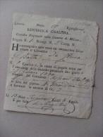 Ricevuta Repubblica Cisalpina - Guardia Nazionale Della Comune Di Milano 1800 - Italia