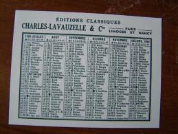 PETIT CALENDRIER De Poche 1960 EDITIONS CLASSIQUES CHARLES LAVAUZELLE & CIE PARIS LIMOGES ET NANCY - Calendriers