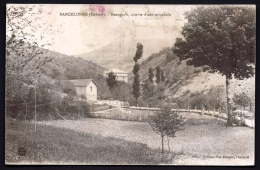 CPA  ANCIENNE- FRANCE- BARCELONNE (26)- BEAUGARIS SOURCE D'EAU MINERALE- ROUTE D'ARRIVÉE- - Frankreich