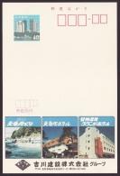 Japan Advertising Postcard, Tenryu River Boat, Hotel, (jad1499) - Cartoline Postali