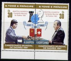Echecs Timbre Neuf Tomeprincipe 1981 Chess Stamps MNH San Tome Principe - Echecs