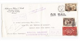 "Montreal 15-7-1933 Flugpost Brief  ""Air Mail Special Delivery"" Auf Schiff ""S/S ""EMPRESS OF BRITAIN"" - Kanada"