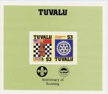 Echecs Bloc Neuf Tuvalu 1986 Chess Sheet MNH - Echecs