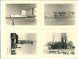 4 PHOTOS ALGERIE HASSI MESSAOUD EXTRACTION DU PETROLE SN REPAL MD H 101 8x10,8 Cm - Autres Villes