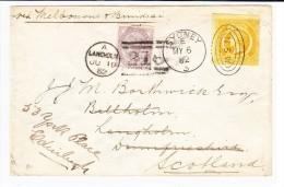 N.S.W. 8d. Gelb Auf Brief Nach Sydney 6.5.1882 Nach Langholm Schottland Weitergeleitet Mit 1P.lilas Nach Edinburgh - 1850-1906 New South Wales