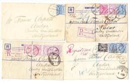 1993/96 Lot Von 4 Briefe (davon 3 R) Von Goldsborough NZ Nach CH Andeer Graubunden - 1855-1907 Colonie Britannique