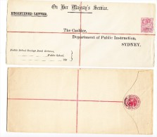 Australien - 3 R-Brief/Ganzsache SPECIMEN - Entiers Postaux
