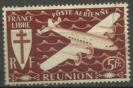 Reunion - 1944 Transport Plane 5fr Used    SG 261  Sc C20 - Reunion Island (1852-1975)