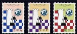Echecs  Serie Neuve  Libye 1976  Y:594/596 Cote/value:11€ Chess Series MNH  Libya - Echecs