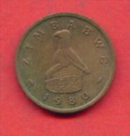 F3647 / - 1 Cent - 1980 -  Zimbabwe Simbabwe Zimbabue  - Coins Munzen Monnaies Monete - Zimbabwe