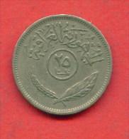 F3650 / - 25 Fils  - 1972 -  Iraq Irak  - Coins Munzen Monnaies Monete - Iraq