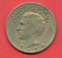 F3658 / - 20 Rials  - 2535 / 1976  -  Iran  - Coins Munzen Monnaies Monete - Iran