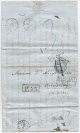 - Lettre - EMPIRE RUSSE - ODESSA Pour MARSEILLE - TAXEE + CACHETS D'ENTREE - 1861 - VOIR - Briefe U. Dokumente