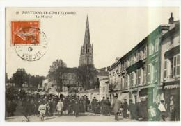 FONTENAY LE COMTE. -  Le Marché - Fontenay Le Comte