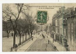 FONTENAY LE COMTE. -  Rue G. Clemenceau Et De La République - Fontenay Le Comte