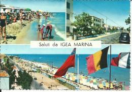 RN060 - SALUTI DA IGEA MARINA - RIMINI - F.G. - VIAGGIATA 1968 - VEDUTINE - Rimini