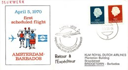 Eerste KLM Vlucht Amsterdam - Barbados (5 April 1970) - Briefe U. Dokumente