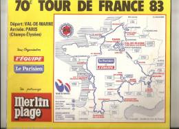 TOUR DE FRANCE  1983 - Road Book 95 Pages - Format 28  X 23  . ( + Port ) - Cycling