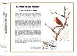 FDC - CEF - 1984 -Rapaces De Nos Régions - Le Circaète Jean Le Blanc - Illustration Patrick Suiro - FDC