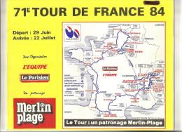 TOUR DE FRANCE  1984 - Road Book 95 Pages - Format 28  X 23  . ( + Port ) - Cycling