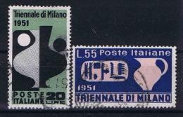 Italy: 1951 Mi 839-840 ,  Sa 666-67 Used
