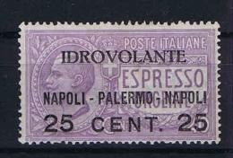 Italy: Airmail 1917 Mi 127 Sa 2, MH/* - 1900-44 Victor Emmanuel III