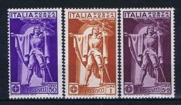 Italy: Airmail 1930 Mi 342-344 Sa A18-20, MH/* - 1900-44 Victor Emmanuel III