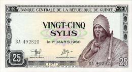 Guinea 25 Sylis 1971 Pick 17 UNC - Guinea
