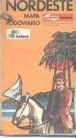 BRASIL BRESIL BRAZIL GUIA DO NORDESTE  258 PAGINAS MAS MAPA RODOVIARIO AÑO 1977 - EN PORTUGUES - - Books, Magazines, Comics