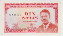Guinea 10 Sylis 1980 Pick 23 UNC - Guinea