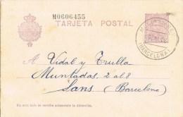 8027. Entero Postal MOLINS De REY (Barcelona) 1928 - Enteros Postales