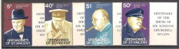** GRENADINE OF ST. VINCENT 4 V. MNH SIR WISTON CHURCHILL - Sir Winston Churchill