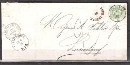 30 S/lettre De Fleurus Pour Le Luxembourg. - 1869-1883 Leopoldo II