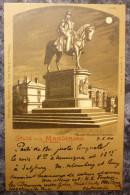 ALLEMAGNE.MAGDEBURG.STATUE KAISER WILHEM-DENKMAL.PRECURSEUR.1900.BEL AFFRANCHISSEMENT. - Magdeburg