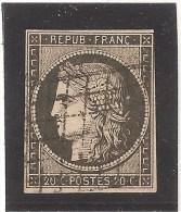 Y&T No 3, Oblitéré Grille Sans Fin - 1849-1850 Cérès