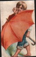 CHROMO Chicorée à La Ménagère,DUROYON - Garçonnet Avec Parapluie - Duroyon & Ramette