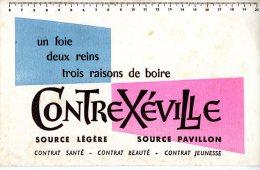 BUVARD  -  CONTREXVILLE  -  DIM / 21 X 13 CM - Buvards, Protège-cahiers Illustrés
