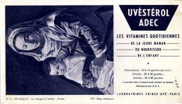 BUVARD  -  UVESTEROL ADEC  -  DIM / 21 X 12 CM - Produits Pharmaceutiques