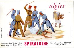BUVARD  -  SPIRALGINE  -  ALGIES  -  LABORATOIRES SERVIER ORLEANS  -  DIM / 21 X 13 CM - Produits Pharmaceutiques