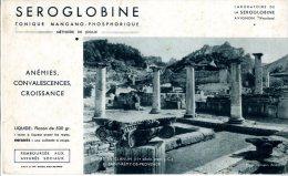BUVARD  -  SEROGLOBINE  -  METHODE DE JOULIE  -  LABORATOIRE DE LA SEROGLOBINE  -  AVIGNON   -  DIM / 21 X 13 CM - Produits Pharmaceutiques
