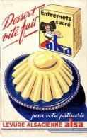 BUVARD  -  ALSA   -  DESERT VITE FAIT  -  DIM / 21 X 14 CM - Alimentare